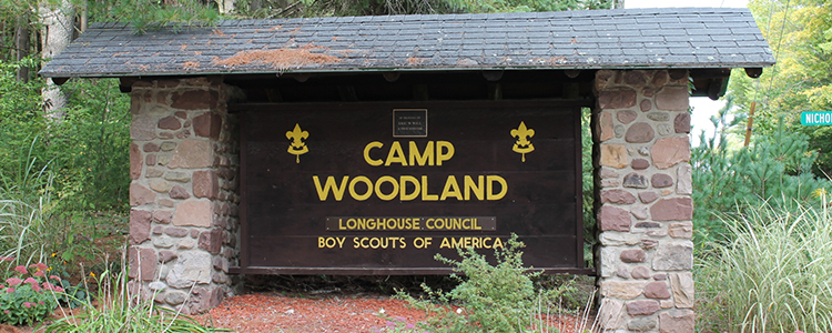 Camping at Camp Woodland, Constantia, New York - Longhouse Council